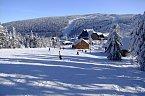 Sjezdovka ve ski areálu Červenohorské sedlo