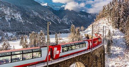 Legendární švýcarský Ledovcový expres