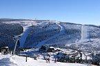 Pohled na Ski areál Červenohorské sedlo