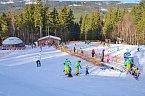 Lyžování ve skiareálu Dolní Morava