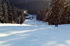 Sjezdovka ve ski parku Gruň