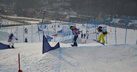 Snowboardcrossová trať ve ski areálu Dolní Morava