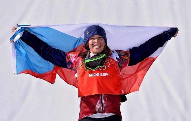 Eva Samková při triumfu v Sochi