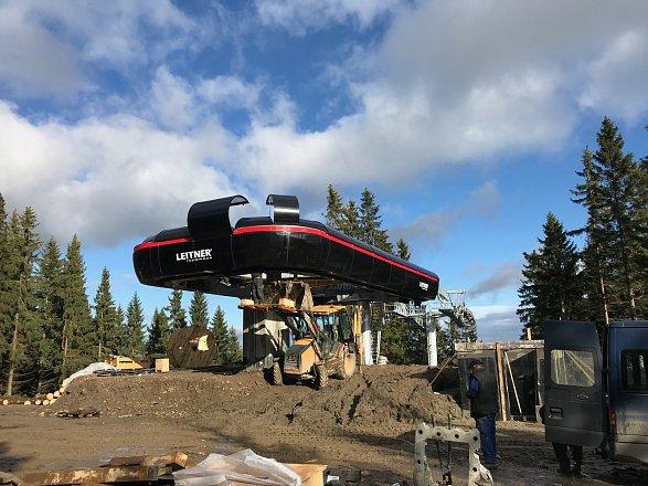 Výstavba nové lanovky ve ski areálu