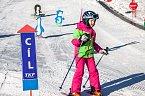 Dětský park zaručuje, že se děti při lyžování baví