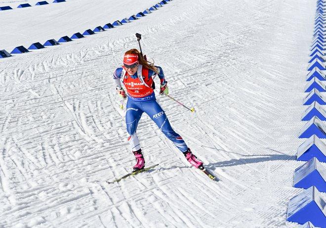 Gabriela Koukalová při závodu v Norsku v březnu 2017