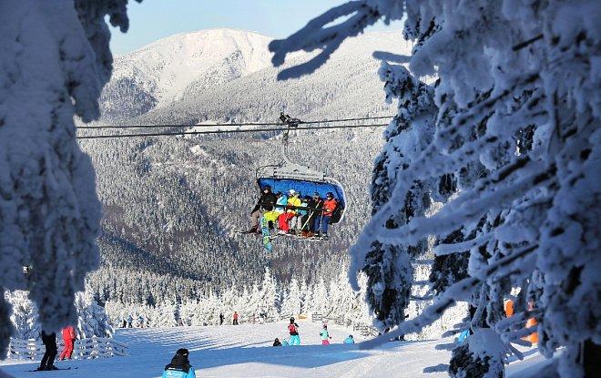 Skiareál Špindlerův Mlýn v Krkonoších