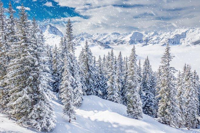 Zima ve středisku Kitzbuhel