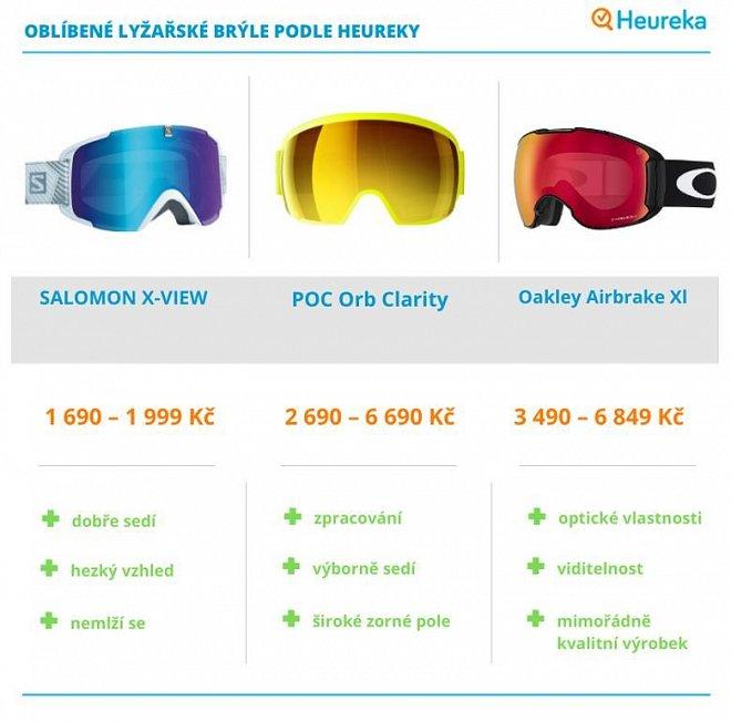 Oblíbené lyžařské brýle