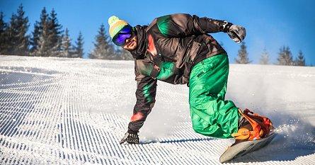Upravená sjezdovka ve ski areálu Kopřivná
