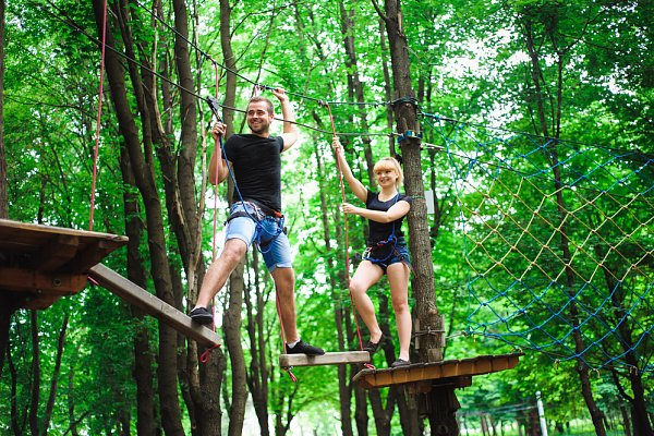 Aktivita Lanový park Libín