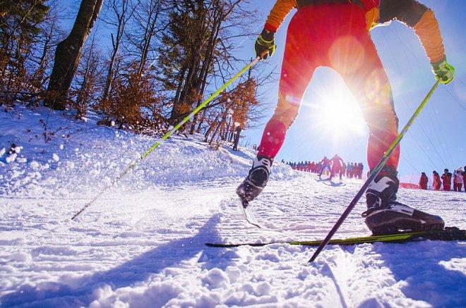 Olympijský sport běh na lyžích