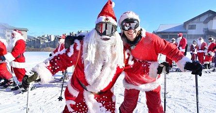 lyžování Vánoce Silvestr